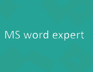 MS Word expert